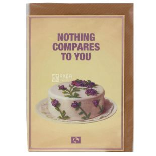 Message Earth Открытка в конверте Nothing compares to you,  10,5x15 см