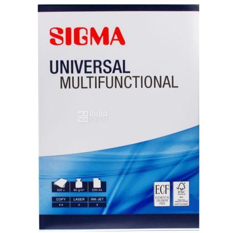 Сигма, Sigma Universal Бумага офисная универсальная, А4, 500 листов, 80г/м2
