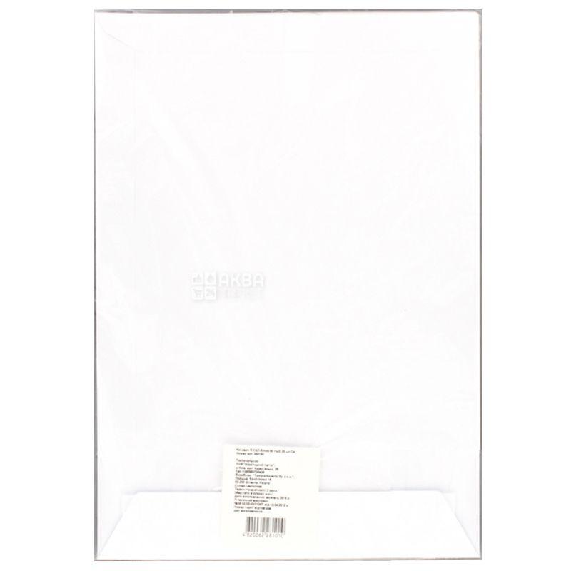 Конверт С4 (229Х324 мм) белый, с отрывной лентой, 20 шт., ТМ Укрпапир