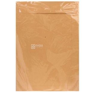 Укрпапир  Конверт формат С4, красный, клапан СКЛ, 90 г/м², 20 шт, бумажный пакет