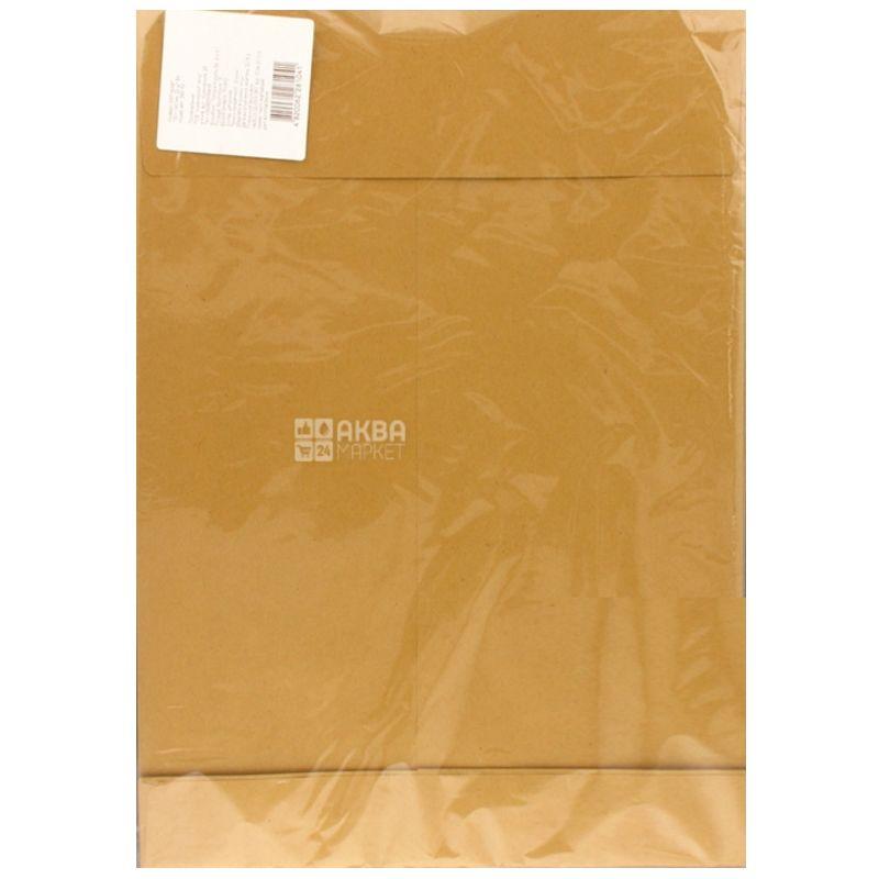 Укрпапир  Конверт формат В4, красный, клапан СКЛ, 130 г/м², 20 шт, бумажный пакет
