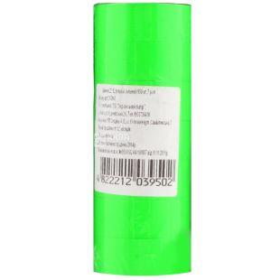 Укрпапир Ценник, прямоугольный зеленый, 22*12 мм, 950 эт