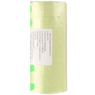 Укрпапир Ценник, фигурный зеленый, 26*12 мм, 950 эт