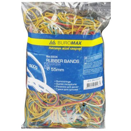 Buromax Резинки для денег, 500г, цвет ассорти, пакет