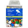 Buromax кнопки кольорові, 100 шт, пластиковий контейнер