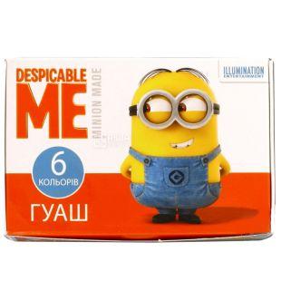 Despicable Me Фарби гуашеві, 6 кольорів, картонна упаковка