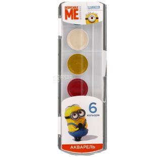 Despicable Me Фарби акварельні медові, 6 кольорів, пластикова упаковка
