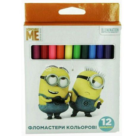Despicable Me Фломастеры цветные, 12 цветов, картонная упаковка