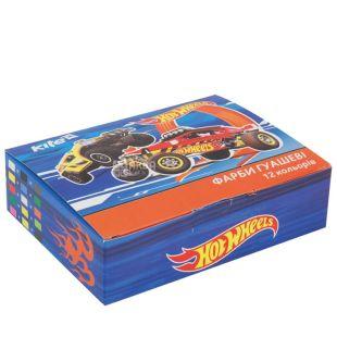Hot Wheels Фарби гуашеві, 12 кольорів, картонна упаковка