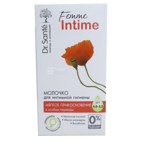 Dr.Sante, Femme Intime, 230 мл, Молочко для интимной гигиены, мягкое прикосновение, рН 4,8 - 5,2