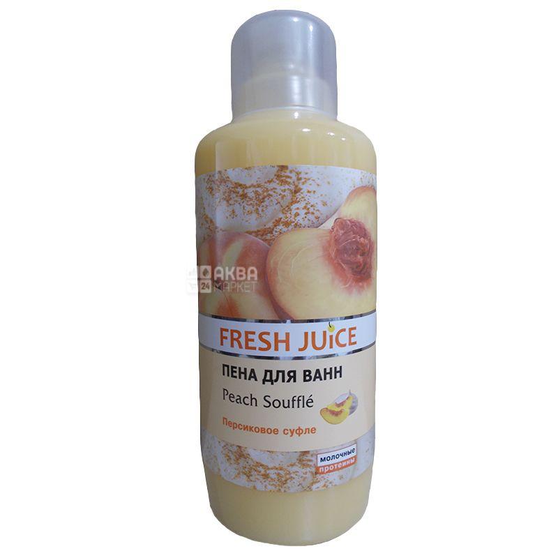 Fresh Juice, 1 л, пена для ванны, Персиковое суфле