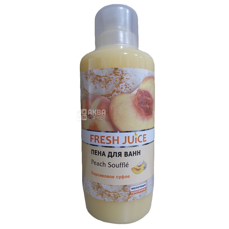 Fresh Juice, 1 л, піна для ванни, Персикове суфле