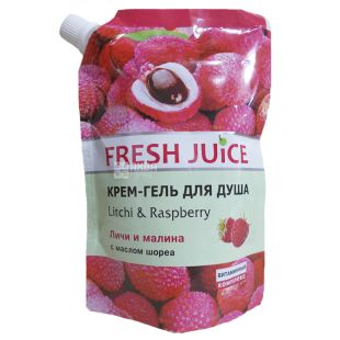 Fresh Juice, 200 мл, крем-гель для душа, личи и малина