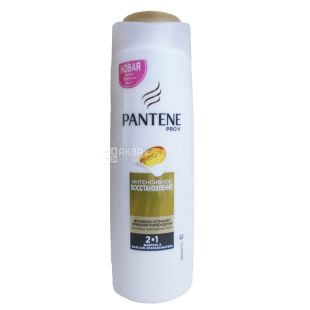 Pantene, 400 ml, Shampoo-balm 2 in 1, Intensive restoration, PET