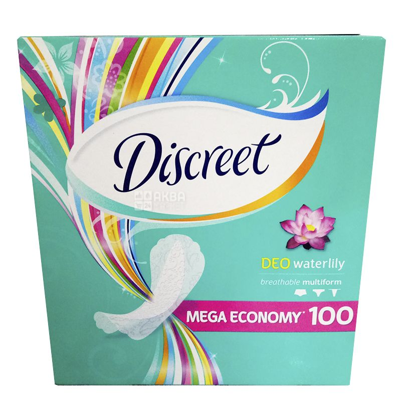 Discreet, 100 шт., прокладки, щоденні, Deo Water Lily Multiform