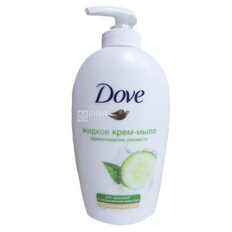 Dove, 250 г, крем-мыло, Прикосновение свежести, ПЭТ