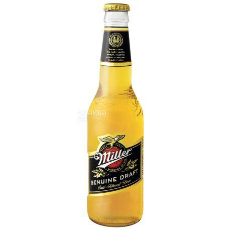 Miller Genuine Draft, Пиво светлое, фильтрованное, 0,5 л