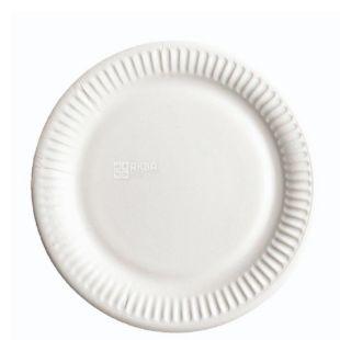 ЭкоПак, Тарелка картонная ламинированная, 180 мм, белая, 50шт