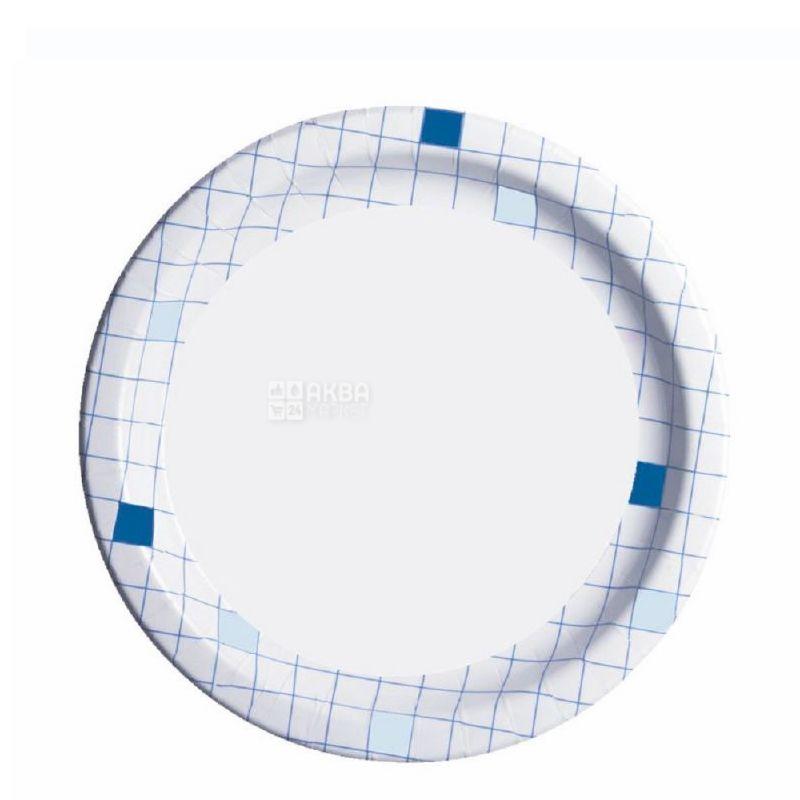 ЭкоПак, Тарелка бумажная ламинированная Ø18 см, ассорти, 50 шт.