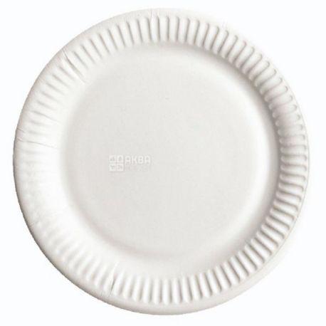 ЕкоПак, Тарелка ламинированная белая, 230 мм, 50 шт, Пакет полиэтиленовый