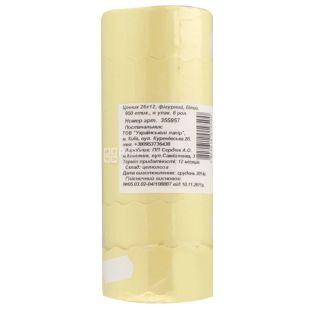 Укрпапір Цінник, фігурний білий, 26*12 мм, 950 ет