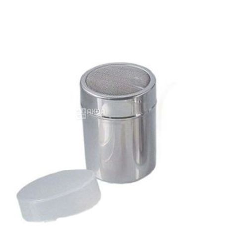 Емкость для посыпания какао, сахарной пудры с пластиковой крышкой, Диаметр 7 см
