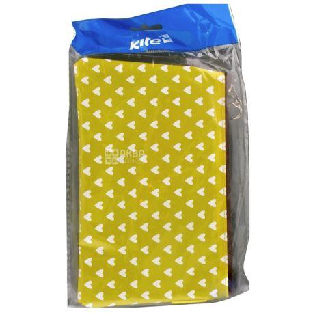 Kite White heart K17-661 Пенал для девочек, цвет желтый, полиэстер, пакет