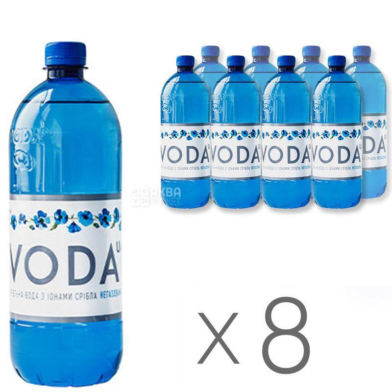 VODA UА, 1 л, Упаковка 8 шт., Вода негазированная, ПЭТ