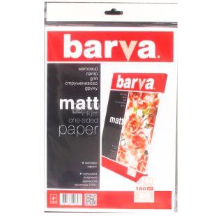 Barva Матовая, Фотобумага, А4, 180 г/м2, 20 листов