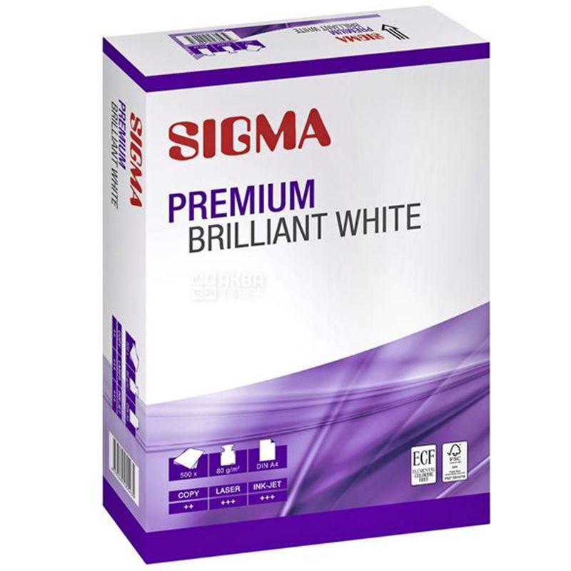 Сигма, Sigma Premium Бумага для принтера, А4, 500 листов, 80 мг/м2