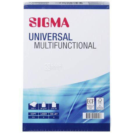 Sigma Universal Бумага офисная универсальная, А5, 500 листов, бумажный пакет