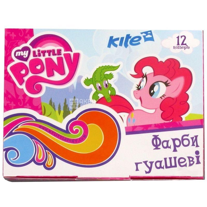 Kite My Little Pony Краски гуашевые, 12шт, картонная упаковка