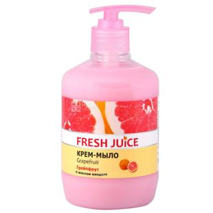 Fresh Juice, 460 ml, cream soap, With moisturizing milk, Grapefruit, PET