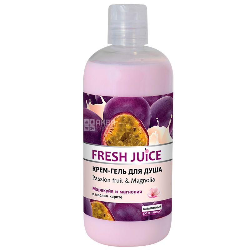 Fresh Juice, 500 мл, крем-гель для душу, маракуйя та магнолія