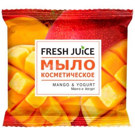 Fresh Juice, 75 г, мило косметичне, Манго і йогурт, м/у
