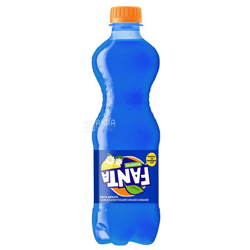 Fanta, Shokata, Упаковка 12 шт. по 0,5 л, Фанта Шоката, Лимон-Бузина, Вода солодка, з натуральним соком, ПЕТ