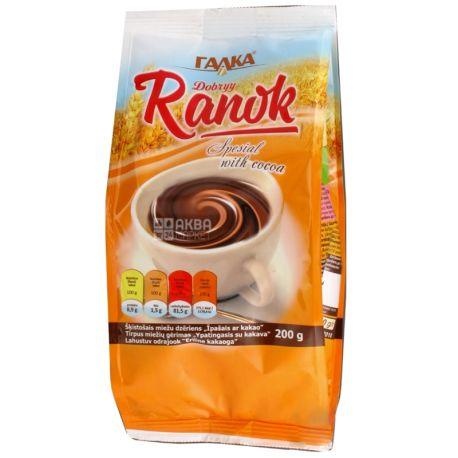 Галка, Dobryy Ranok, 200 г, Напиток с цикорием, ячменем и какао, растворимый
