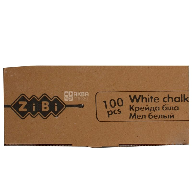 Zibi Мел белый, 100шт, картонная упаковка