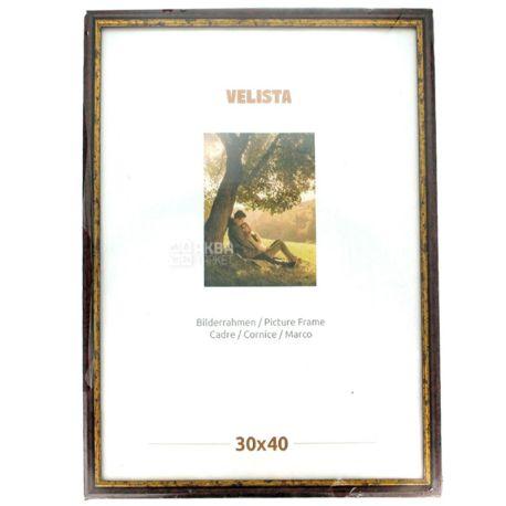 Velista, Фоторамка, Коричневая, 18 мм, 30 х 40 см, Пластик