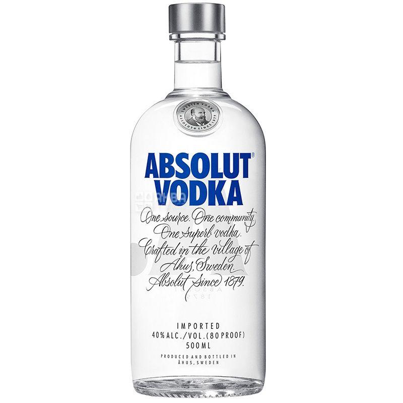 Absolut, Vodka, 40%, 0.5 L