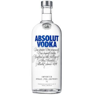 Absolut, Водка, 40%, 1 л