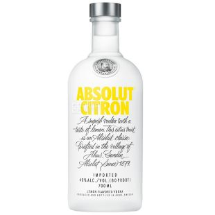 Absolut Citron, Водка, 40%, 0,7 л