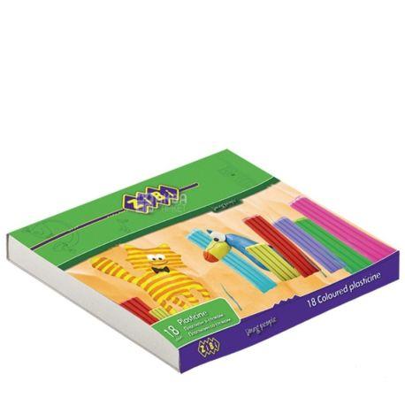 Zibi Kids Line Пластилин цветной, 18шт, картонная упаковка