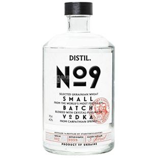 Distil №9, Vodka, 40%, 0.7 l