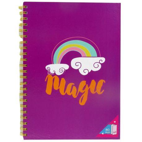 Magic Блокнот на пружине, А4, 80 листов