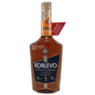 Koblevo 5* коньяк украинский ординарный, 0,5 л