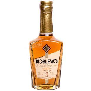 Koblevo 3* коньяк украинский ординарный, 0,25 л