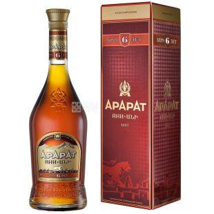 Ararat Ани коньяк 6 лет выдержки, 0,5 л , стеклянная бутылка, подарочная коробка