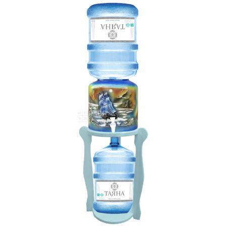ViO, Подставка деревянная WSD-5, круглая, под 2 бутыли, Бирюза