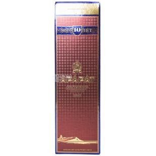 Ararat Ахтамар коньяк 10 років витримки, 0,5 л, скляна пляшка, подарункова коробка